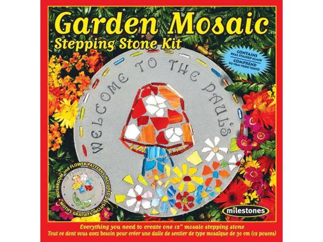 Mosaic Stepping Stone Kit-Garden