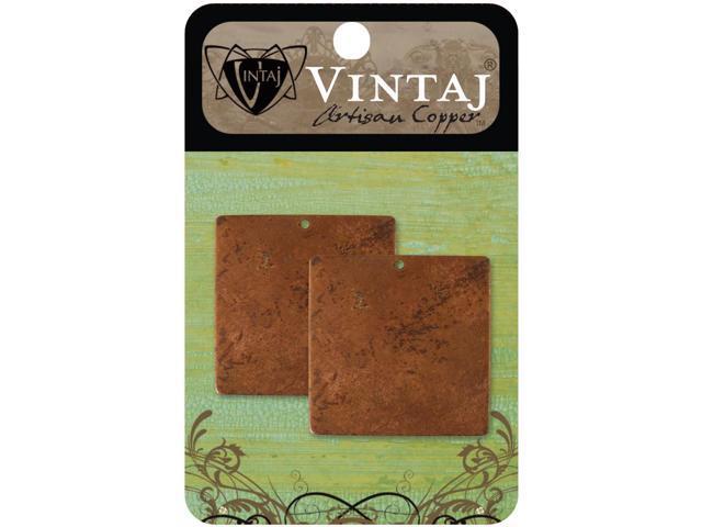 Vintaj Metal Altered Blanks-Large Squares 20.5mm 2/Pkg