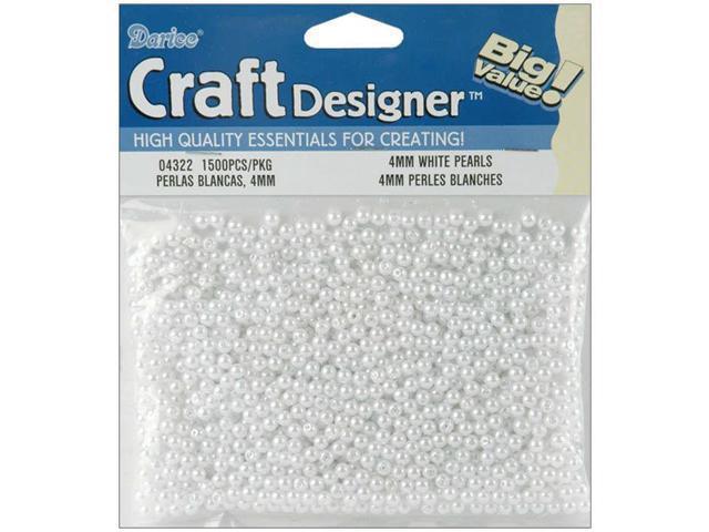 Pearls 4mm 1,500/Pkg-White