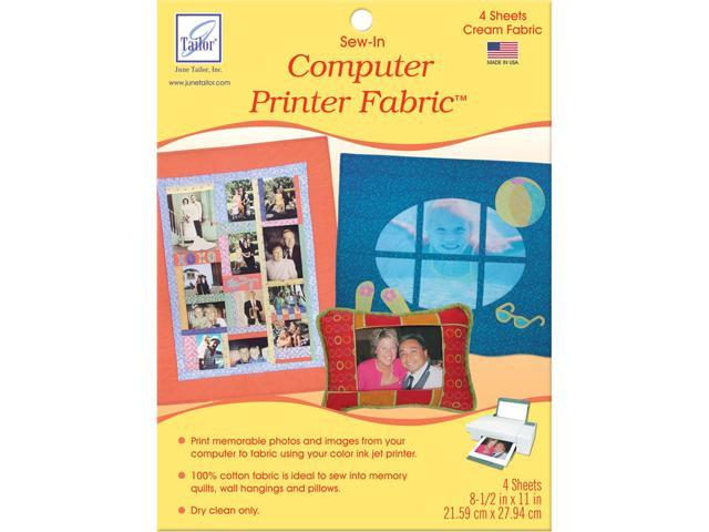 Sew-In Computer Printer Fabric Sheets 8.5