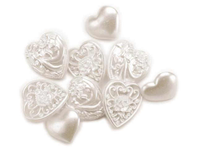 Favorite Findings Buttons-Victorian Hearts 8/Pkg