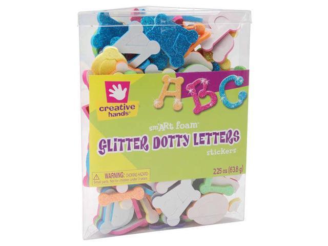 Foam Glitter Stickers 2.25oz-Dotty Letters