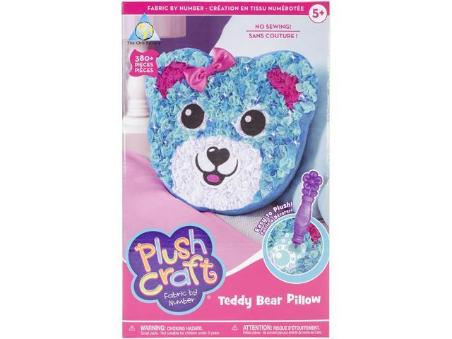 PlushCraft Fabric By Number Kit-Teddy Bear Pillow