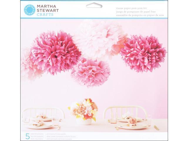 Vintage Girl Tissue Paper Pom-Pom Kit Makes 5-Pink