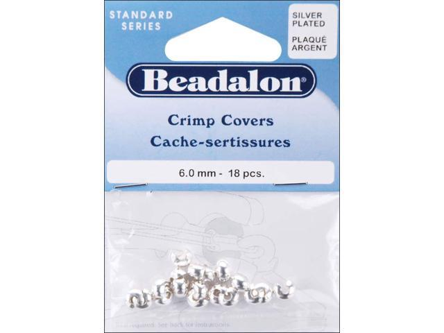 Silver-Plated Crimp Covers-6mm 18/Pkg