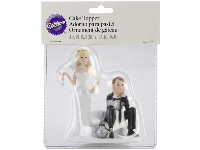Wilton BALL AND CHAIN WEDDING CAKE TOPPER Funny People