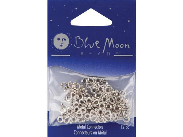 Blue Moon Silver-Plated Metal Connectors 12/Pkg-Flower