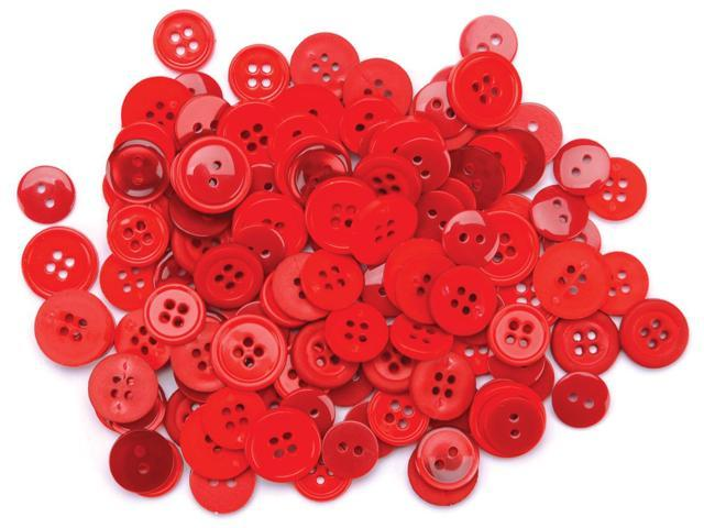 Favorite Findings Buttons 130/Pkg-Red