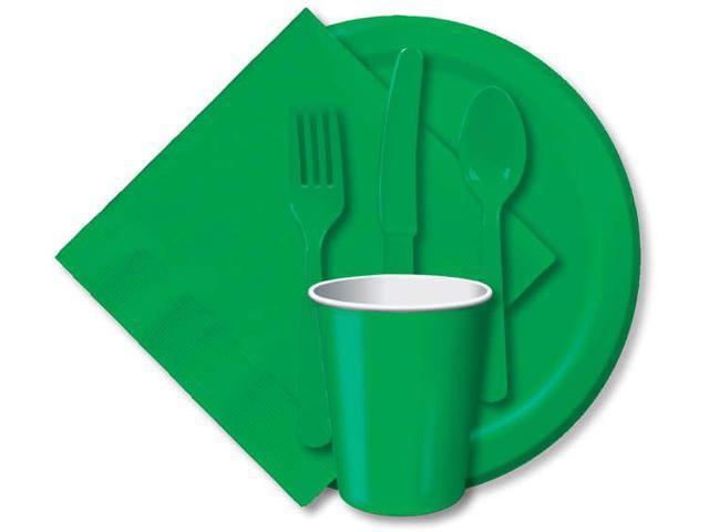 Heavy-Duty Cutlery 24/Pkg-Emerald Green