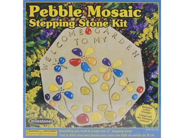 Mosaic Stepping Stone Kit-Pebble