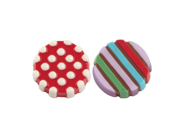 Cookie & Candy Mold-Dot Stripe 6 Cavity (2 Designs)