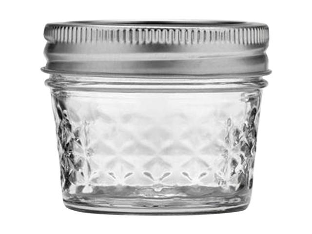 Ball Quilted Crystal Jelly Jar-4oz