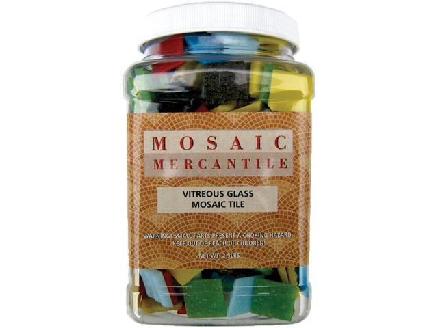 Vitreous Glass Mosaic Tiles 2.5lb-Assorted