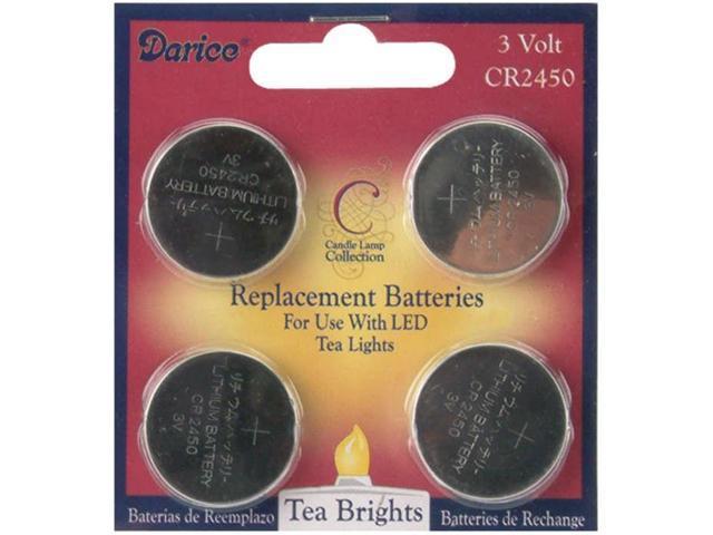 LED Tea Light Replacement Batteries 4/Pkg-