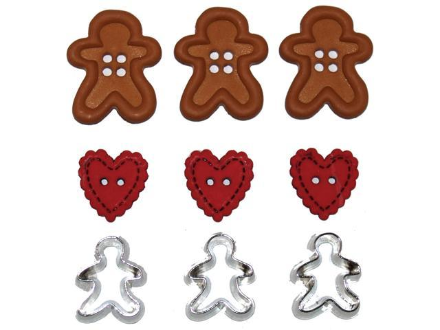 Dress It Up Holiday Embellishments-Gingerbread Cookies