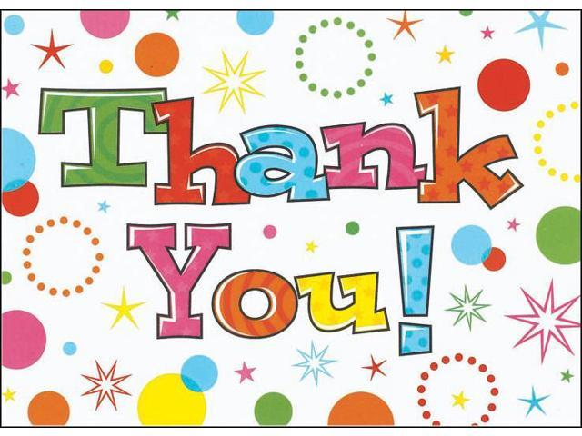Thank You Cards & Envelopes 20/Pkg-Party Time