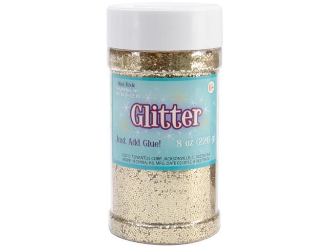 Glitter Shaker 8 Ounces-Gold
