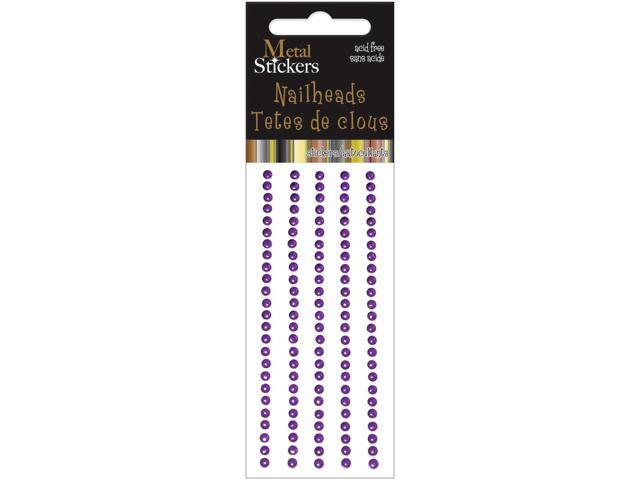 Metal Stickers Nailheads 3mm Round 125/Pkg-Purple
