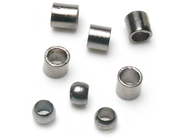 Jewelry Basics Metal Findings 500/Pkg-Gunmetal Crimp Tubes 2mm