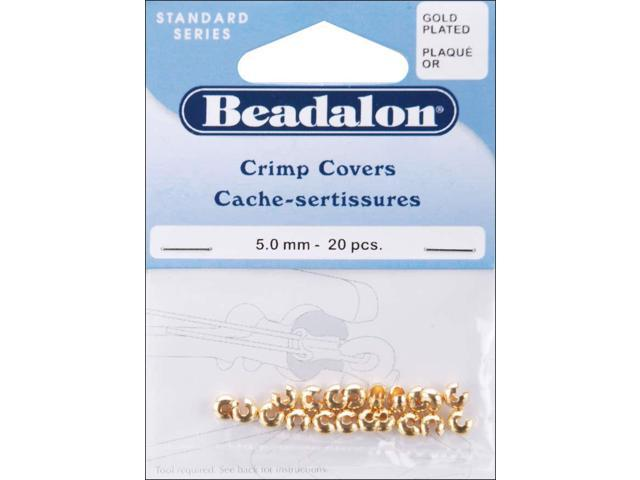 Gold-Plated Crimp Covers-5mm 20/Pkg