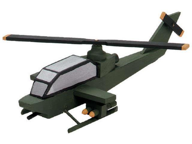 Wood Model Kit-Attack Helicopter 7.5