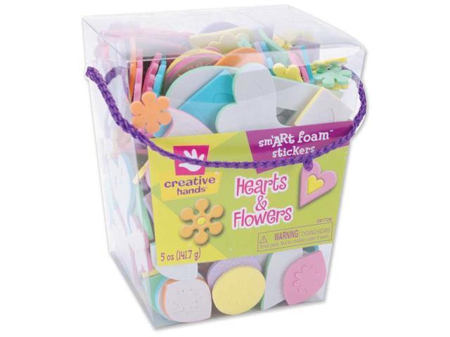 Foam Stickers 5oz-Hearts & Flowers