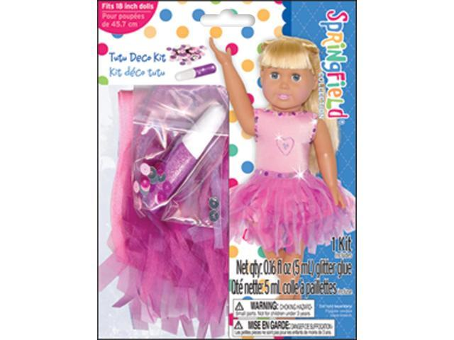 Springfield Collection Dress-Up Tutu Outfit-Pink W/Glitter & Sequins