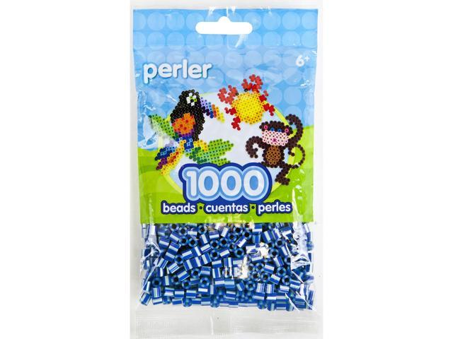 Perler Striped Beads 1000/Pkg-Royal Blue Pearl