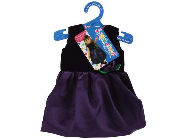 Springfield Collection Dress-Black Velvet & Purple Satin