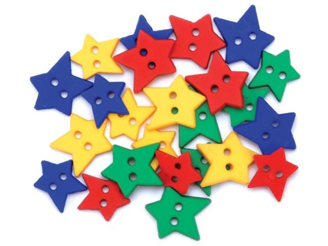 Favorite Findings Buttons-Primary Stars 23/Pkg