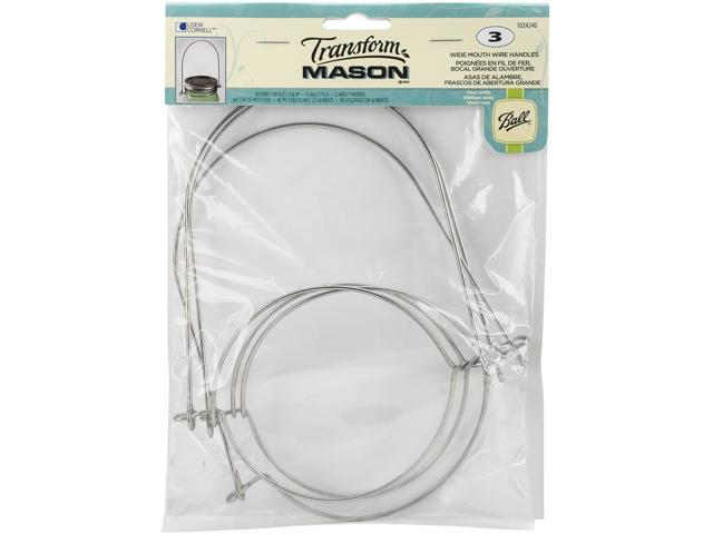 Transform Mason Wire Handles 3/Pkg-Silver - Wide Mouth