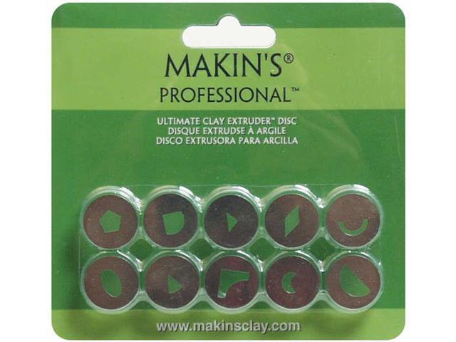 Makin's Professional Ultimate Clay Extruder Discs 10/Pkg-Set B