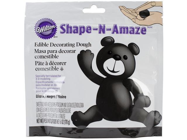 Edible Decorating Dough 6 Ounces/Pkg-Black