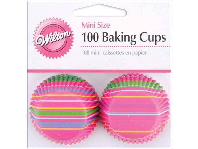 Mini Baking Cups-Snappy Stripes 100/Pkg