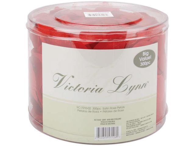Victoria Lynn Satin Rose Petals 300/Pkg-Red