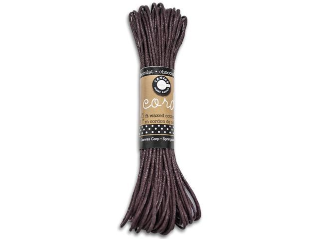 Waxed Cotton Cord 45'-Chocolate