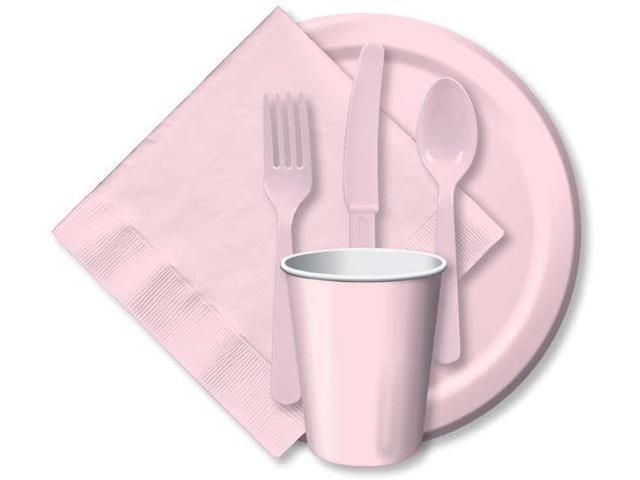 Heavy-Duty Cutlery 24/Pkg-Classic Pink