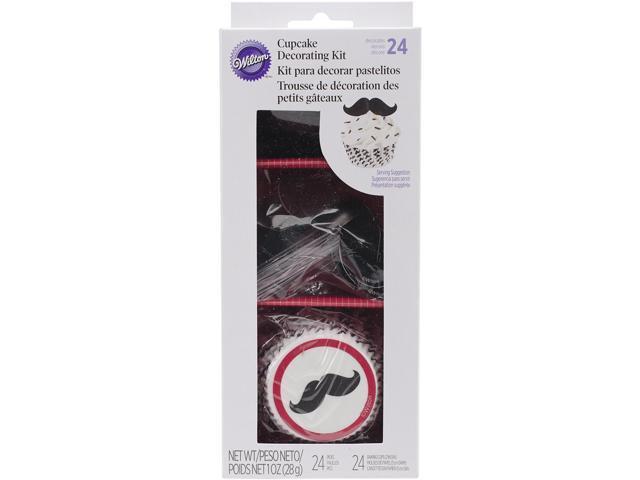 Cupcake Decorating Kit Makes 24-Mustache