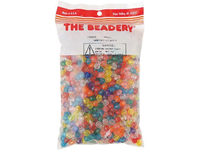 Faceted Beads 8mm 900/Pkg-Multicolor