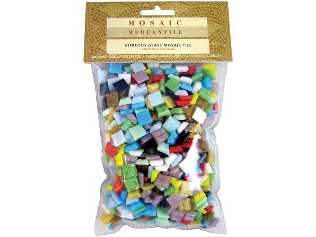 Vitreous Glass Mosaic Tiles 1lb-Assorted