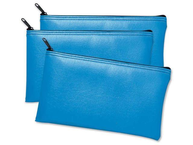 Leatherette Vinyl Zippered Wallets -Blue