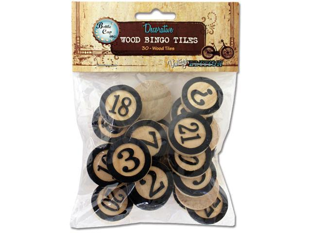 Salvaged Wood Bingo Tiles 1