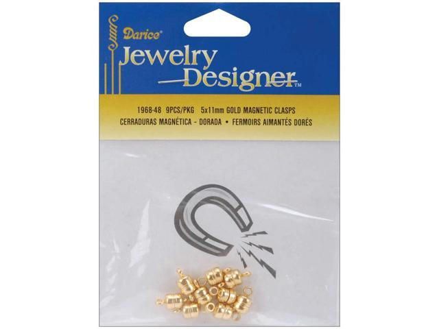 Magnetic Clasps 5mmX11mm 6/Pkg-Gold