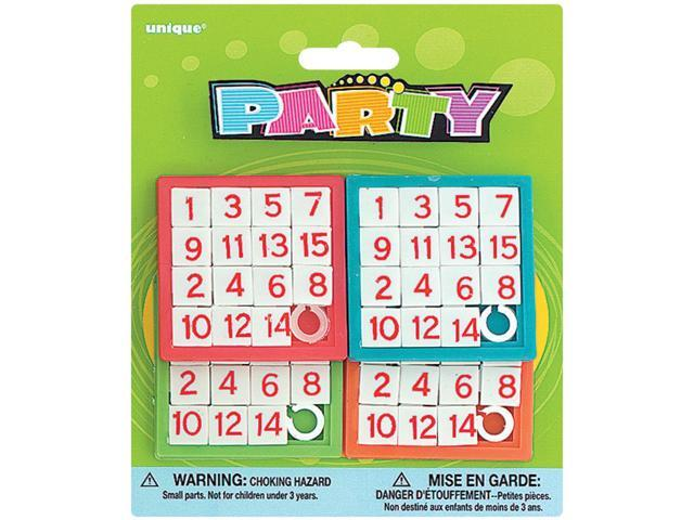 Party Favors 4/Pkg-Number Puzzles