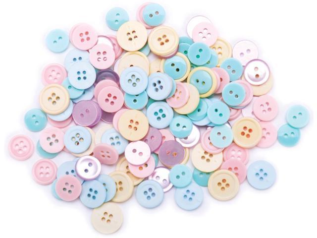 Favorite Findings Buttons 130/Pkg-Pastel