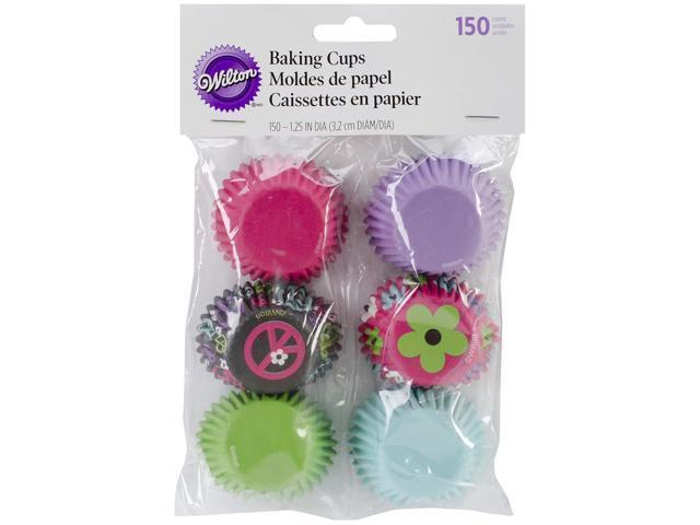 Mini Baking Cups-Peace & Flower 150/Pkg