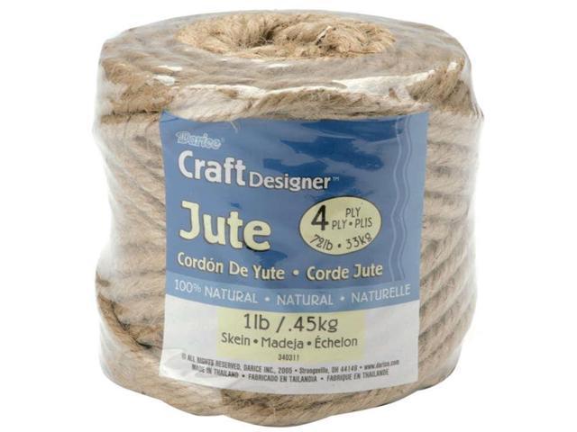 Jute Rope Spool 4-Ply 1lb 135'-Natural