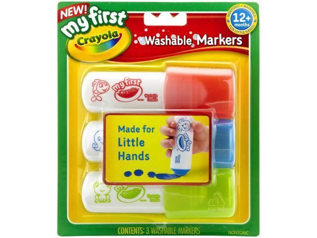 My First Crayola Washable Markers 3/Pkg-Red, Blue & Green