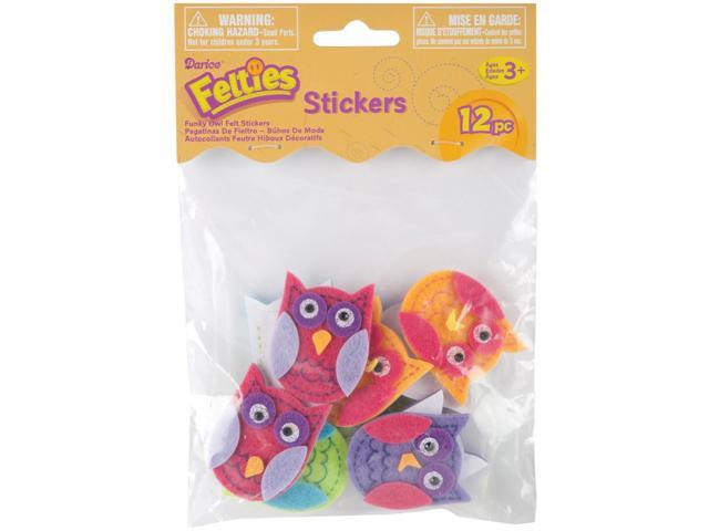 Felties Stickers 10/Pkg-Funky Owls