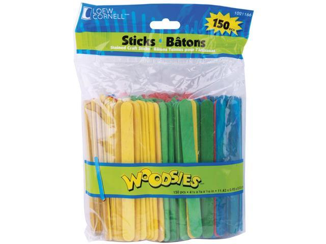 Woodsies Craft Sticks-Colored 4.5
